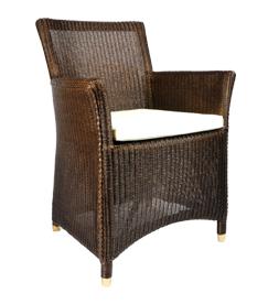 Lloyd loom stoel 3504 Bali bruin