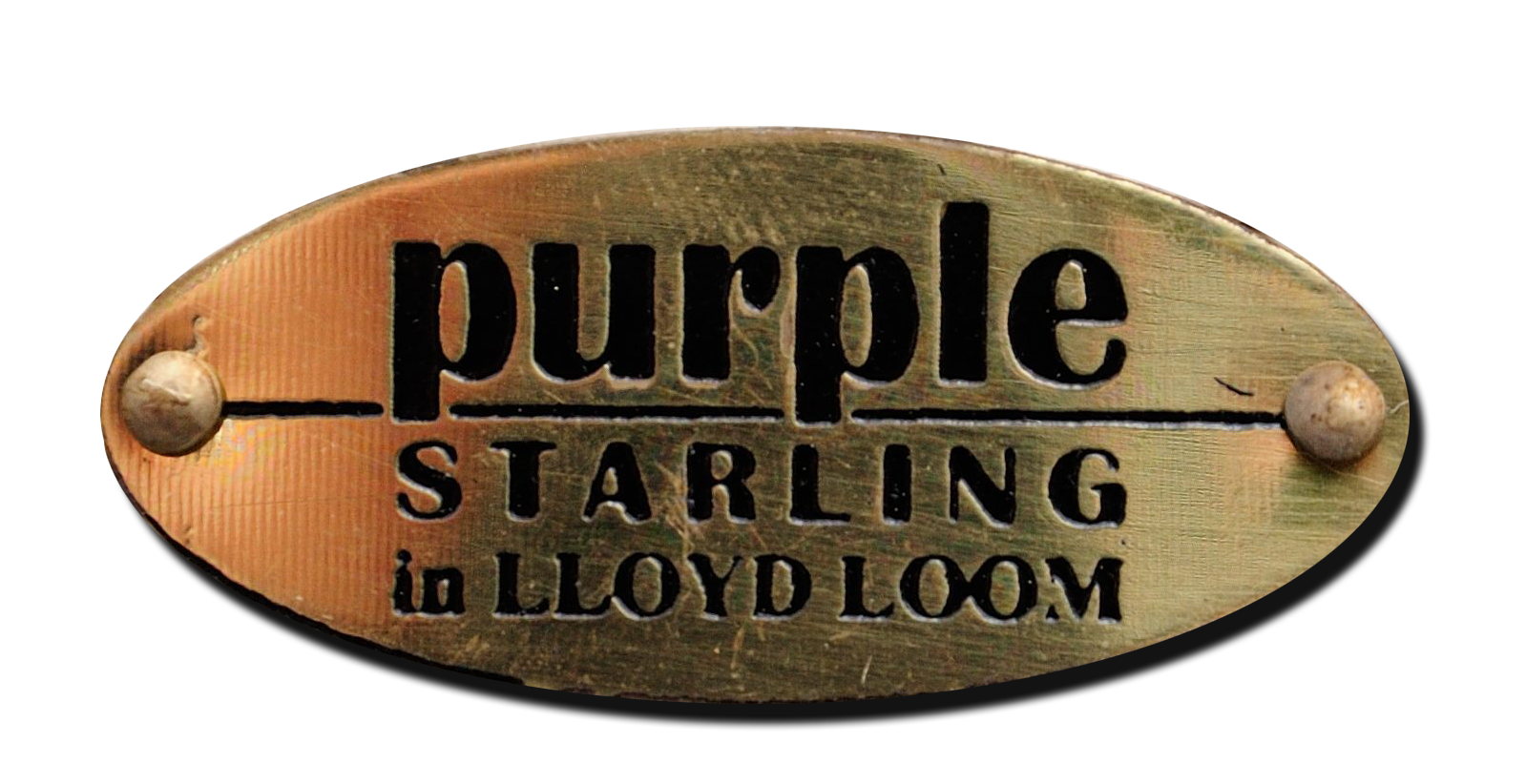 Purple Starling in Lloyd loom logo