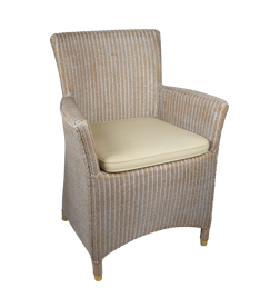 Lloyd loom stoel 3504 kleur white wash