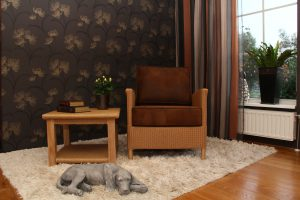 Lloyd loom fauteuil Triesta
