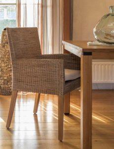 Lloyd loom stoel Malaga mixed naturel