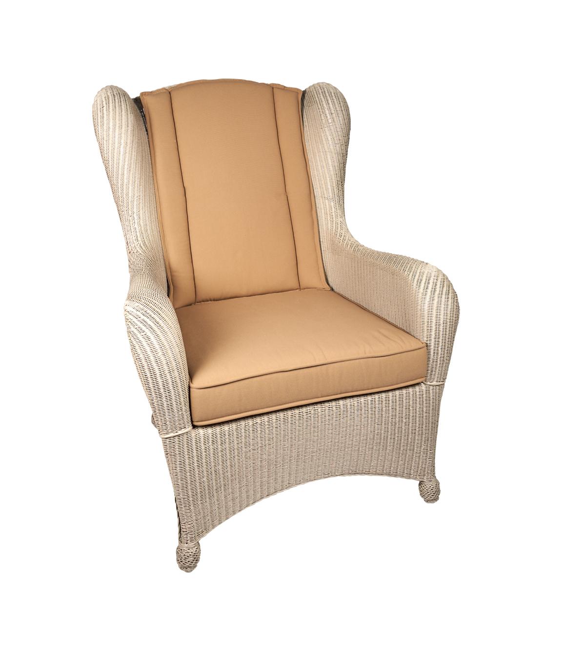 Lloyd loom King Chair Parel Wit