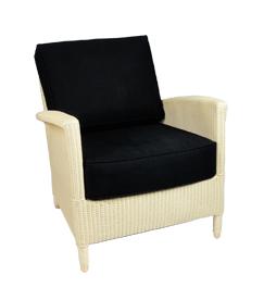Lloyd loom fauteuil Triesta room