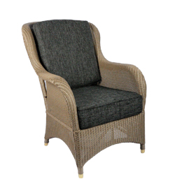 Lloyd loom fauteuil Exeter taupe