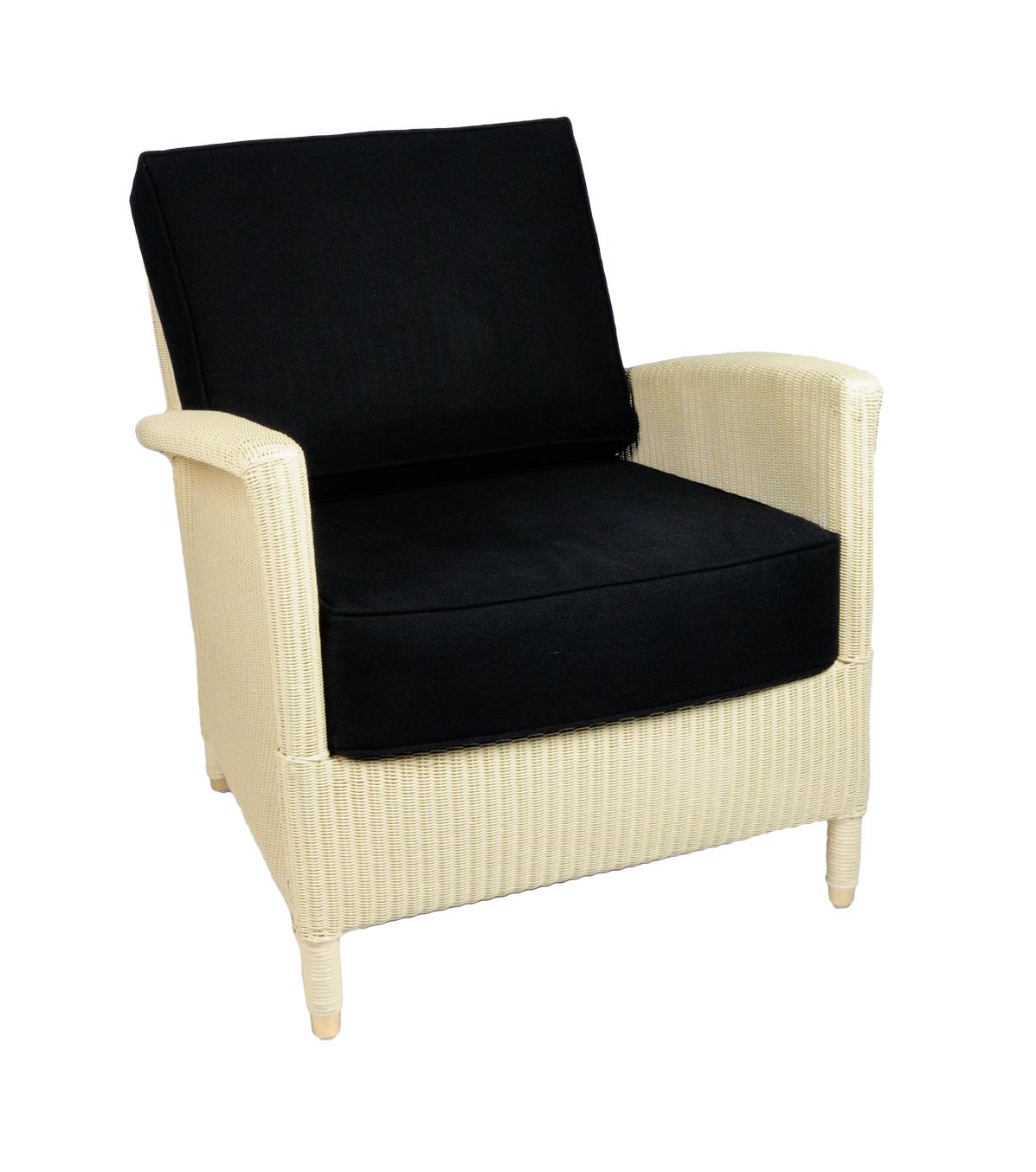 Lloyd loom fauteuil Triësta room