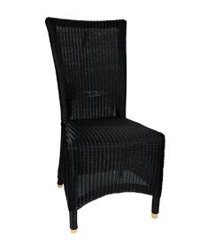 Lloyd loom stoel Melbourne zwart