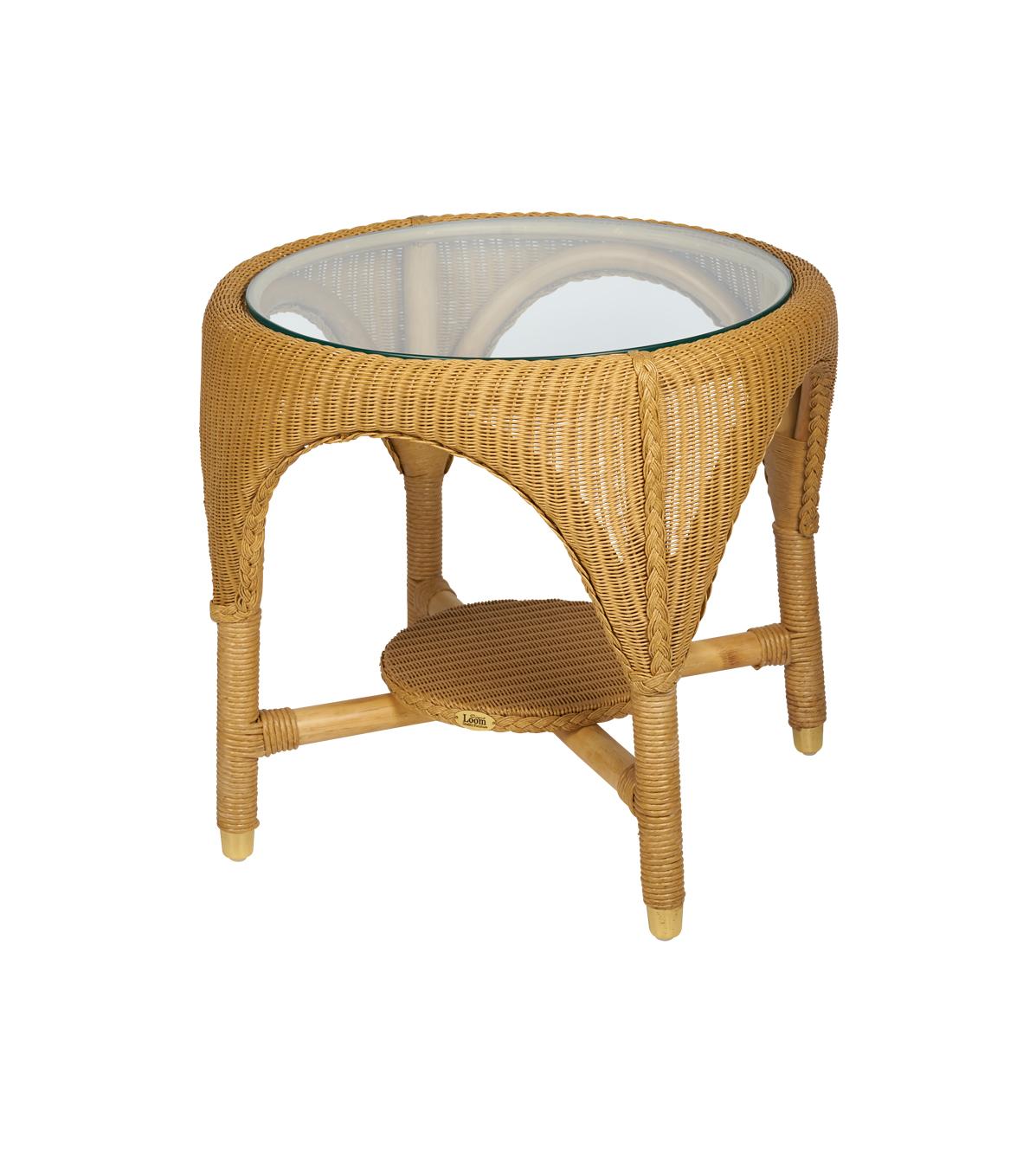 Lloyd Loom tafel Celine rond naturel