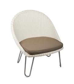 Lloyd loom fauteuil Bristol rvs