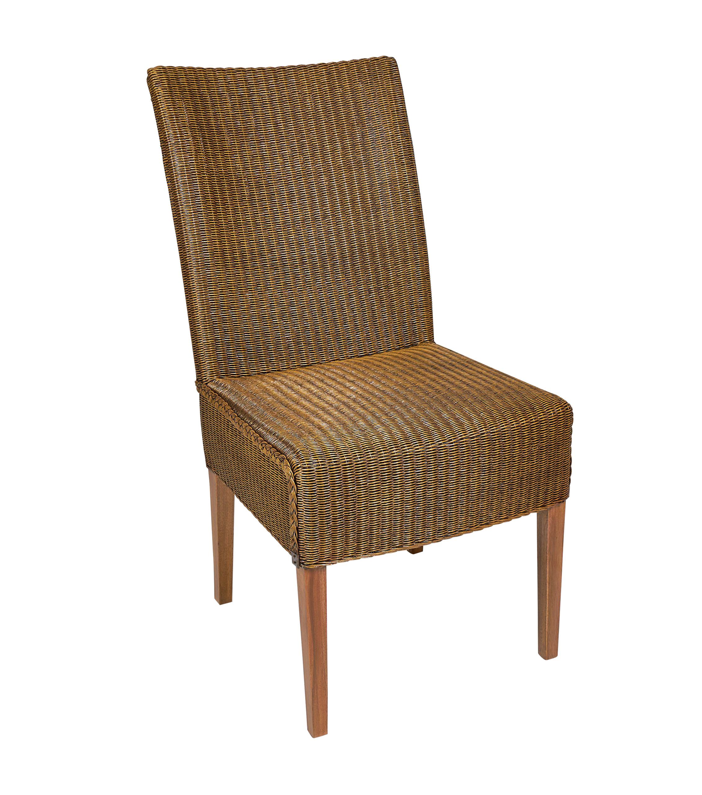 Lloyd loom stoel Classic Caramel